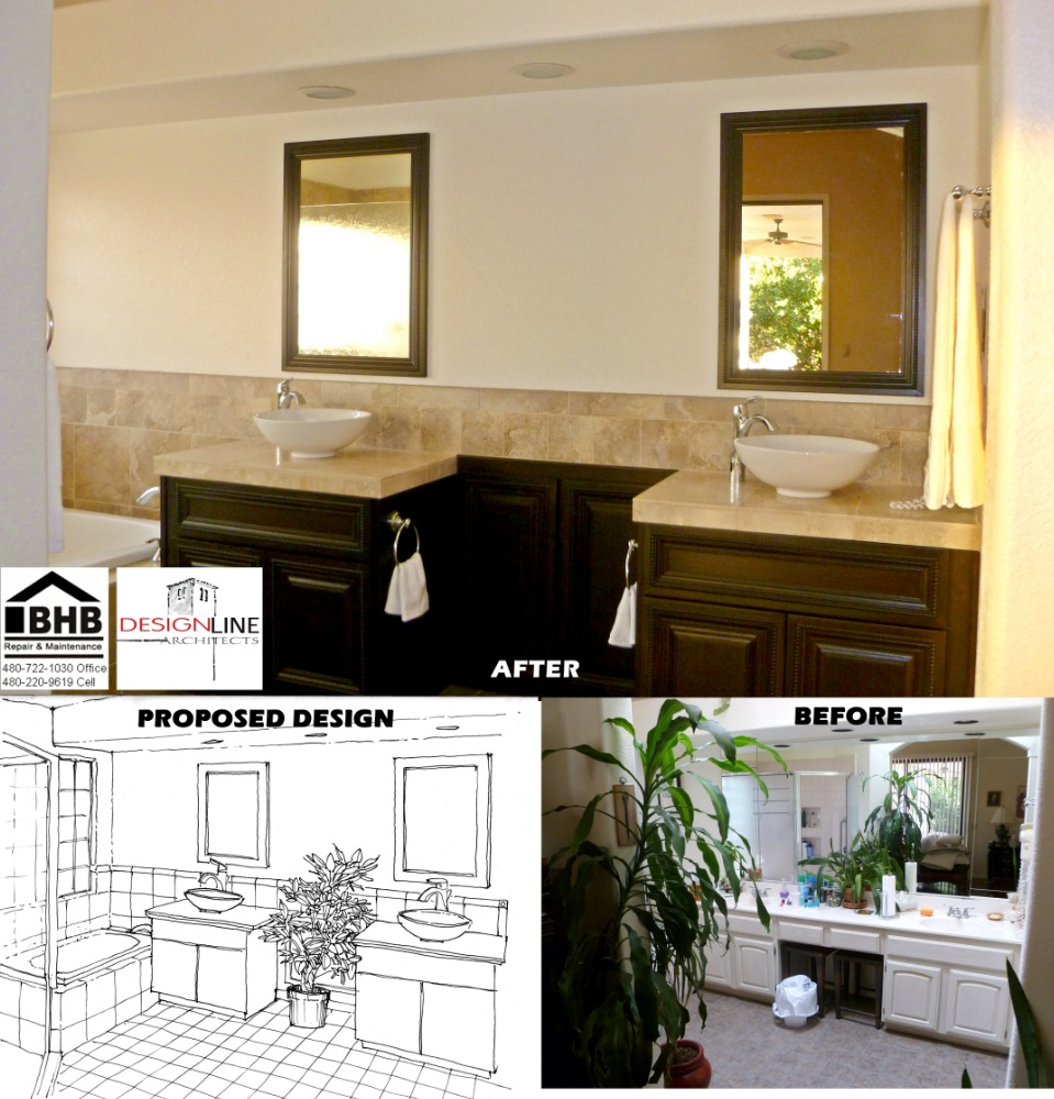 Bathroom Remodel Gilbert Az home remodeling design | design line architects